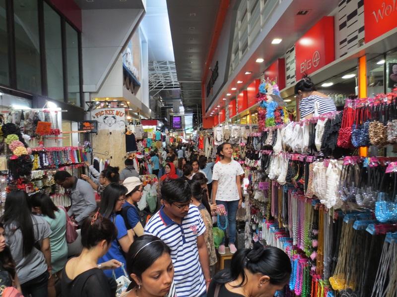 Pratunam kädesmarknad i Bangkok