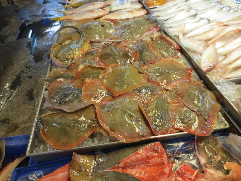 Fisk- och skaldjursmarknad.